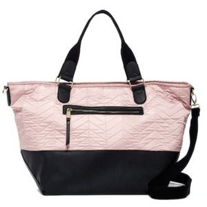 NWT Madden Girl Blush Quilted Weekender Bag